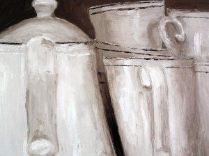 Kaffeetassen mit Kanne