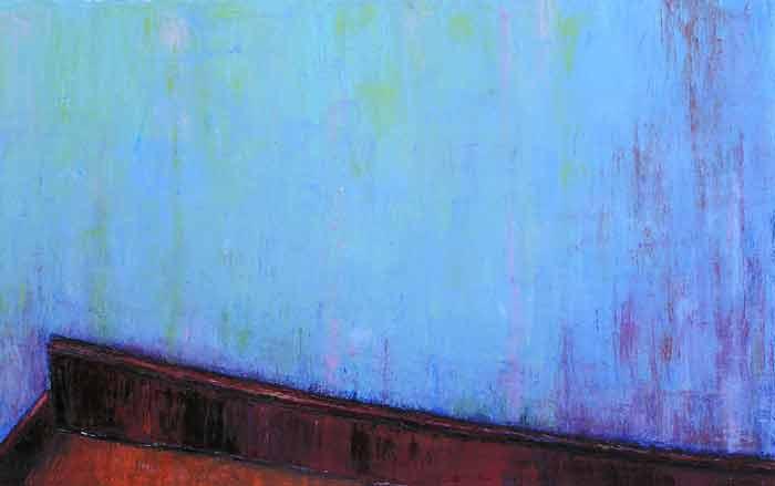 Treppenhausausschnitt blau rot